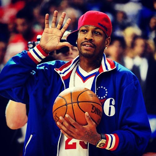 Forgot To Post The Homie A.I. On His Retirement Day B4 The 76ers Knocked Off My Other Squad Da' Heat... Iv3rson