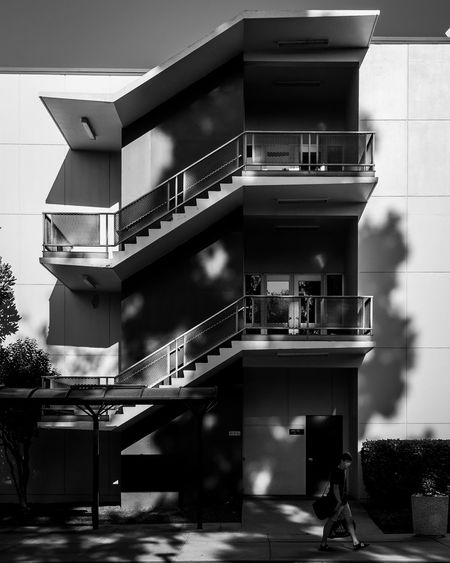 Architecture Built Structure Building Exterior Contrast Shadows Shadows & Lights The Street Photographer - 2017 EyeEm Awards The Architect - 2017 EyeEm Awards The Way Forward EyeEm The Week On EyeEm Blackandwhite Streetphotography Urban City Fineart Streetphoto_bw Staircase One Person Concrete Steps Steps And Staircases Street Urban Geometry EyeEm Best Shots