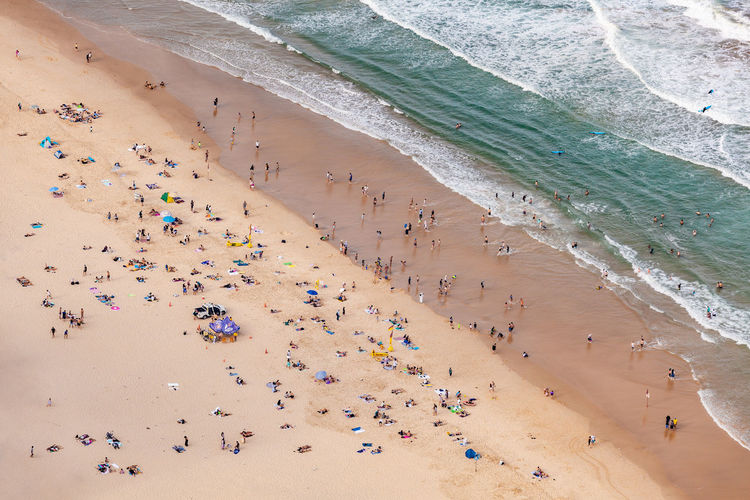 Australia Australian Landscape Aerial View Panorama Panoramic Landscape Drone Photography Land Beach Sand Crowd Sea High Angle View Water Large Group Of People Group Of People Trip Vacations Holiday Nature Real People Beauty In Nature Day Motion Wave Leisure Activity Outdoors