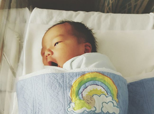 Day 01 - that by looking at the world with a wink was more interesting 😃 Babyboy ❤ Newborn Baby Boy Singapore