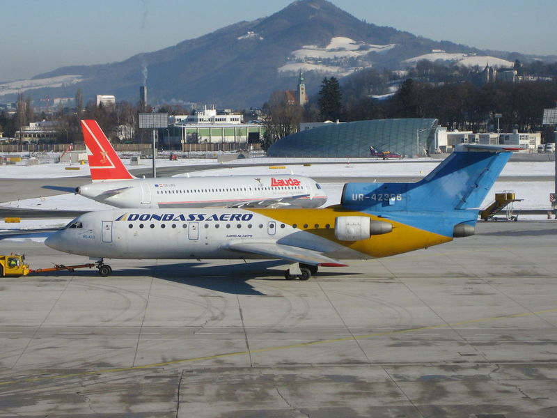 Air Vehicle Airplane Boeing Charter Charter Plane Flughafen No People Salzburg Salzburg Airport Transportation Tupolev 154