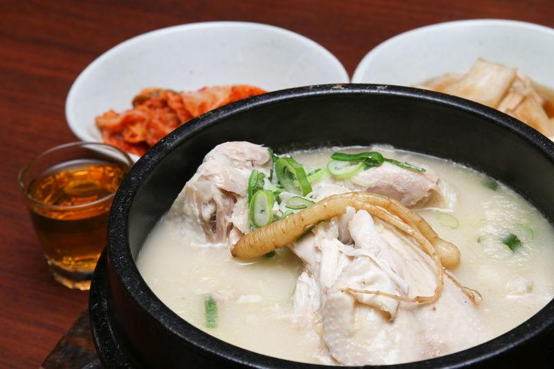 Samgyetang or Korean Ginseng Chicken soup Chicken Korea Korean Meal Food Ginseng Health Healthy Popular Samgyetang Stew