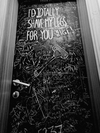 Toilet door in 'Pr'Skelet' Club in Slovenia. Text Communication Indoors  Night Nightlife Door Doorporn Drunk In Love People And Places Clubbing Club Night Summer Summernights2017