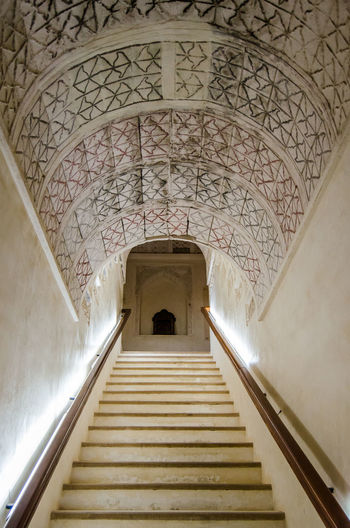 Stairs Arch Architecture Built Structure Heritage Building Indoors  Jabreen Castle No People Oman Staircase Steps Steps And Staircases The Way Forward
