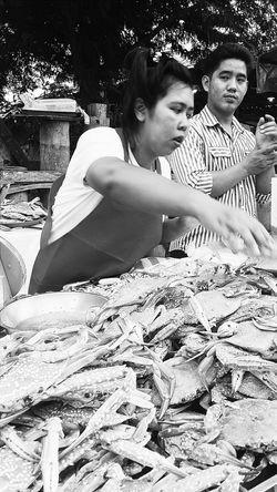 Crabs Streetvendor Sunday Market At Lamai Samui_thailand
