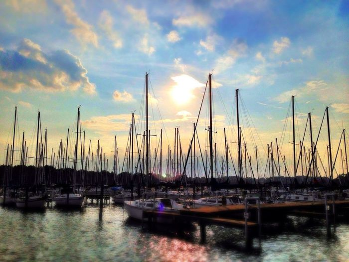 An evening at Sunset Cove in Baltimore County. Ips Sunset Water IPhoneography