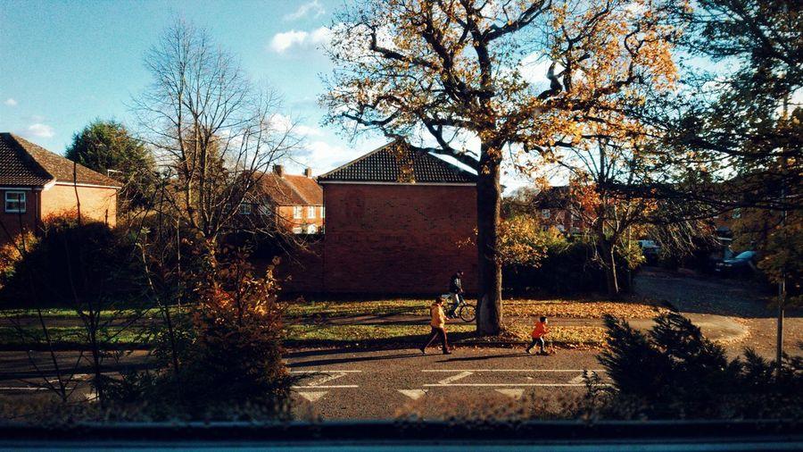 Idyllic day at Welwyn Garden City, Hertfordshire London Streetphotography Uk Kids Street Children Cloud Cloud - Sky WelwynGardenCity Fun EyeEm Best Shots EyeEmNewHere Tree Sky Childhood Friends Europe