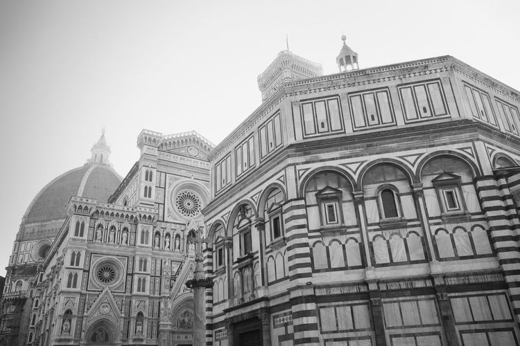 Florence Cathedral in Italy Florence Florence Italy Firenze Italy Travel Destinations City Cityscape Famous Place Landmark San Giovanni In Fiore Santa Maria Del Fiore Cathedral Florence Cathedral Duomo Di Firenze Baptistery Church Reinassance Building Exterior Architecture Built Structure Religion Building Place Of Worship Low Angle View Tourism