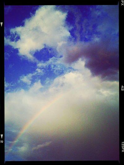 #sunshine #clouds #sky #skyporn #rainbow #beautiful