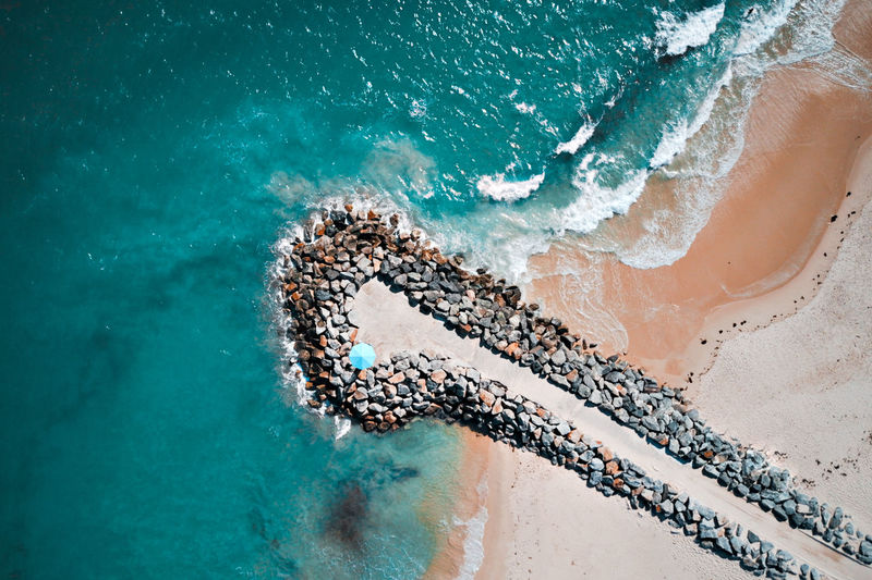 Aerial photo of one of Perth beaches. Blue water, sand and a pier with the blue Baywatch House. Aerial Shot Aerial View Australia Beach Blue Cottesloe Drone  Dronephotography Gold Coast Australia Holiday Indian Ocean Nature Ocean Perth Pier Sand Scarborough Beach Summer Turquiose Vacations Western Australia Fresh On Market 2017