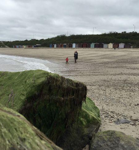 Beach Clacton Beach Huts Rocks Sand Coastal Life Family
