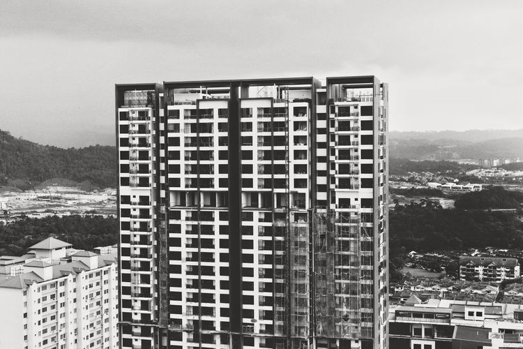Adapted To The City Architecture Building Exterior Built Structure Sky Outdoors Residential Building Day House No People Apartment City Cityscape Nature Nikon D810 Monochrome EyeEm TheWeekOnEyeEM EyeEm Gallery