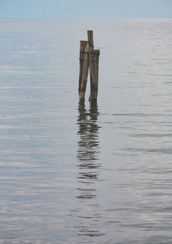 Quiet Bracciano Day Horizon Line Idyllic Italy Lake Lakescape Minimal Nature No People Nobody Non-urban Scene Outdoors Post Reflection Scenics - Nature Sea Sky Stick Tranquil Scene Tranquility Water Waterfront Wood - Material Wooden Post