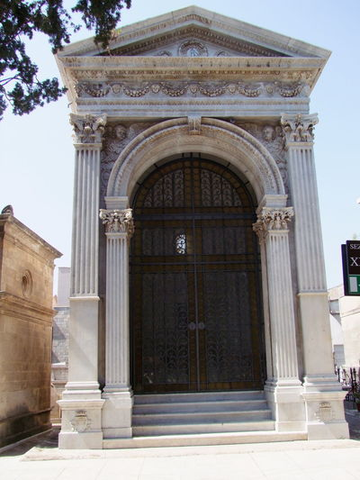 Marble Resting Place, Palermo Cemetery Arch Architecture Art Blue Sky Built Structure Cemetery Column Composition History Italy Marble House No People Palermo Religion Resting Place Sicily Spirituality Spooky Atmosphere Vertical Symmetry