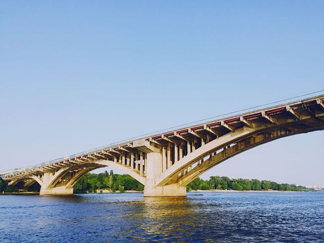 Dnipro River Travelphotography Ukraine Wiew Traveling Bridge Dnipro River Kiev Love