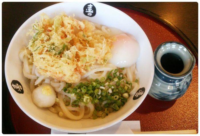 Japanese Food Udon Yummy Food Porn 讃岐うどん 駿河湾桜海老かき揚げ温玉付きぶっかけうどん!名前長っ!こんなに美味しい讃岐うどん屋さんが近くにあるなんて!