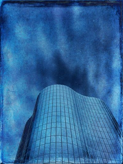 Trade tower Sky Architecture Built Structure Cloud - Sky Blue Building Exterior The Architect - 2018 EyeEm Awards Low Angle View Building