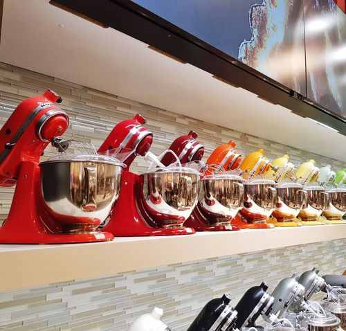 Stand mixers line up Holiday Gifting Shopping For Kitchen Utensils Kithen Small Goods Kitchen Utensils Baking Dough Dough Making Mixer Stand Mixer