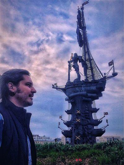 Mevspetro Me Against Petro Gorkiy Park Petersburg Russia Cloudy Sky Cloud - Sky Sky Statue