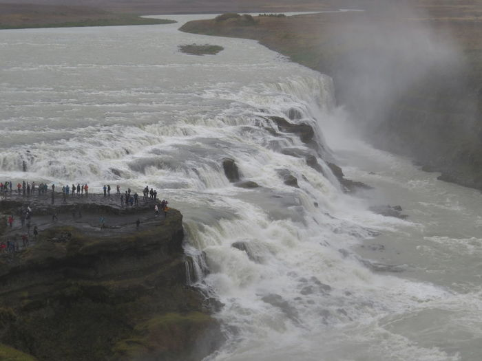 The waterfall Gullfoss in Iceland, with more than 100m³ of water per second. GullniHringurinn Iceland Beauty In Nature Force Goldencircle Gullfoss Island Motion Outdoors Water Waterfall