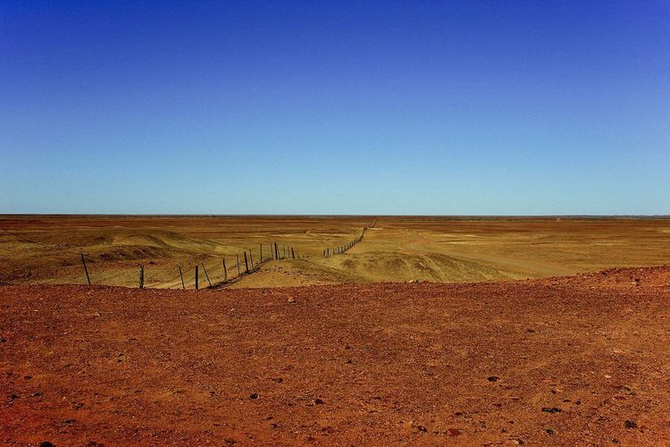 Blue Clear Sky Desert Horizon Over Land Landscape No People Non-urban Scene Remote