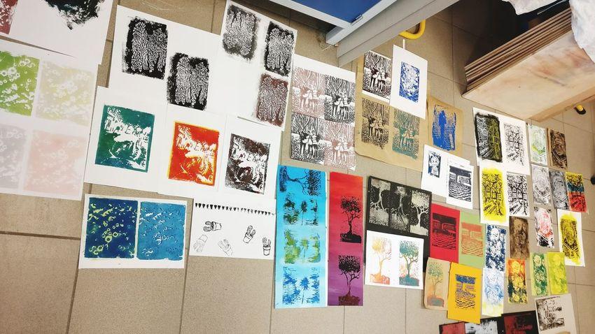 Linogravure ✌️ Text No People Antibes Côte D'Azur Manaa Colors Painting Art Drawing ✏ Linogravure Beginner Artist