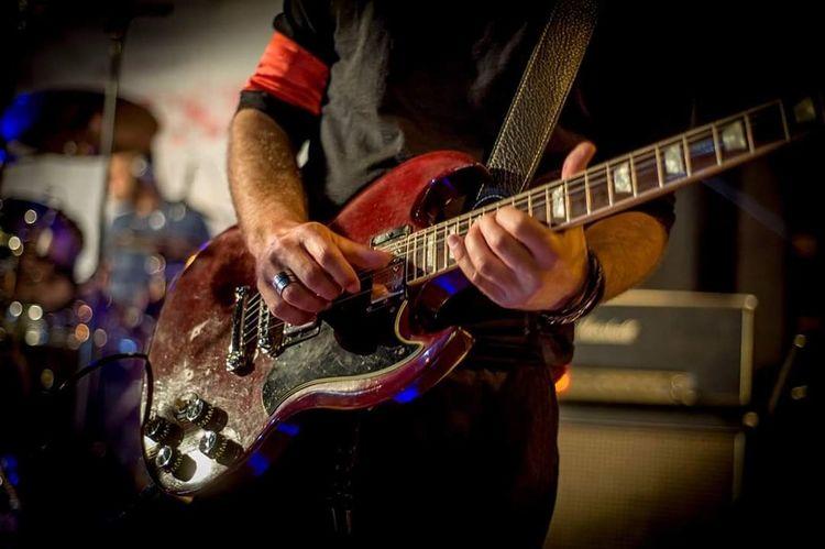 Guitar Musician Plucking An Instrument Electric Guitar Guitar Popular Music Concert Rock Music Musical Instrument Jazz Music Human Hand Performance