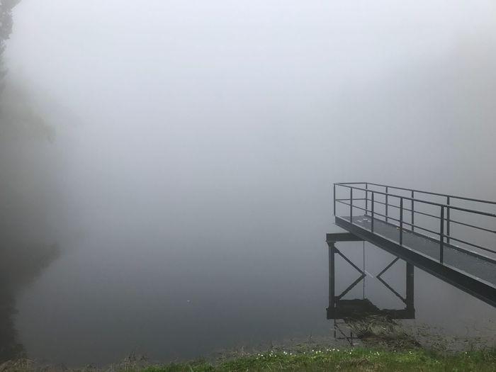 Nebel Railing Tranquility Outdoors