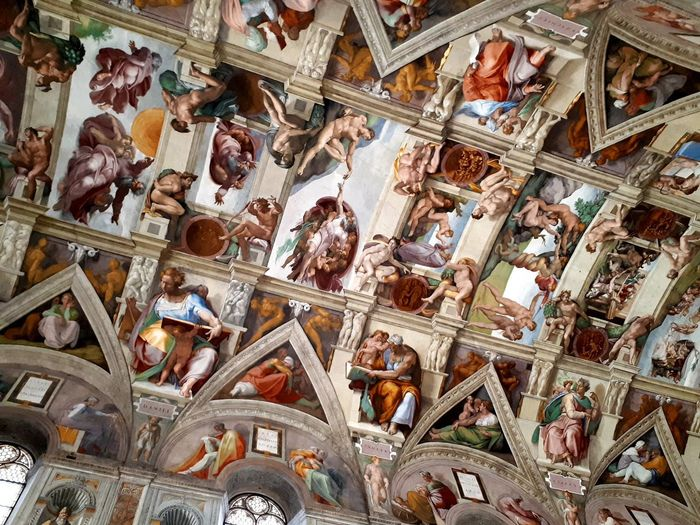 VaticanCity Italy🇮🇹 Sistine Chapel  Michelangelo Creation Of Life Close-up