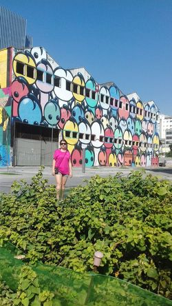 Day City One Woman Only Pink Color One Person History Architecture Nature
