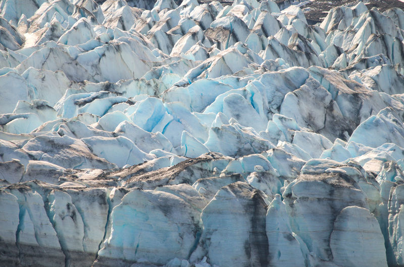 Full frame shot of ice bergs