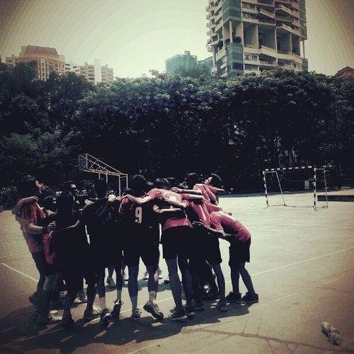 #ITE #handball #team before start of #match, #itecc #cheer #sports ITE Cheer Igsg Sgig Itecc Polite2012 Teamite Sports Singapore Handball Team Sg Match Photojournalism Teamwork
