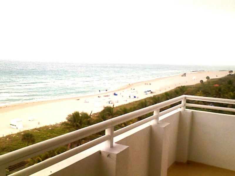 Spectacular View from the Balcony Beach Ocean Blue Sky South Beach, Miami Pivotal Ideas The Magic Mission People And Places TakeoverContrast