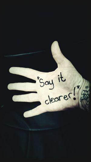 Hand Palm Message Say It Clearer