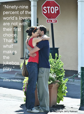 #Quotograph: #WillieNelson adds a poignant comment about love with a pic of a two-some in #SantaFe Jukebox Love Song Love Songs New Mexico New Mexico, USA Quotes Santa Monica Stop Willie