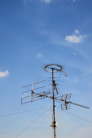 TV Antenna Cloud - Sky Connection Day Electricity  Electricity Pylon Fuel And Power Generation Low Angle View No People Outdoors Power Supply Sky Technology