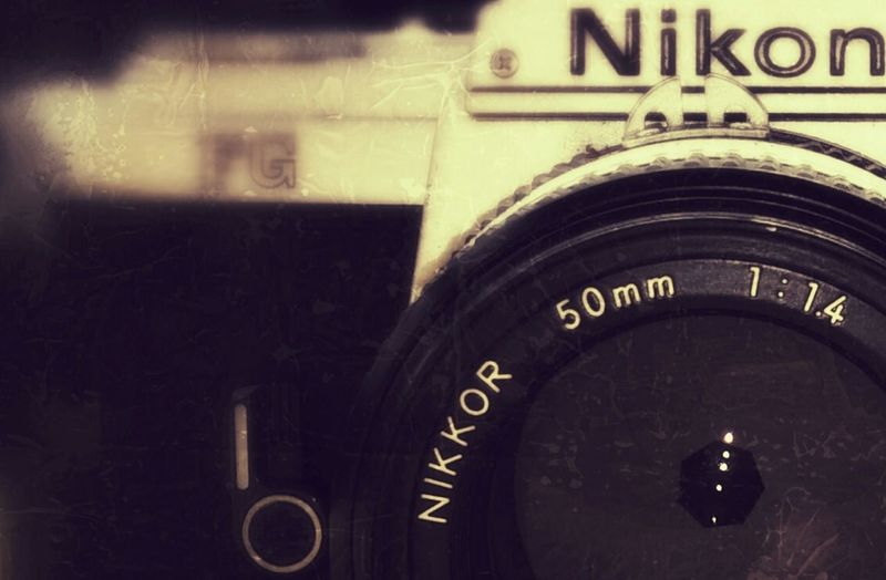 Camera Taking Photos Beauty Nikon White Single Lens Camera SLR Old But Awesome I Love It ❤ Objectif GrungeStyle Just Taking Pictures Lifestyles No People Bought  Love ♥ 35 Mm Film Camera