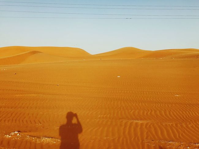 EyeEm Selects Scenics Landscape Desert Outdoors Silouette And Shadows Shadow Selfie ;) Lost In The Landscape Connected By Travel
