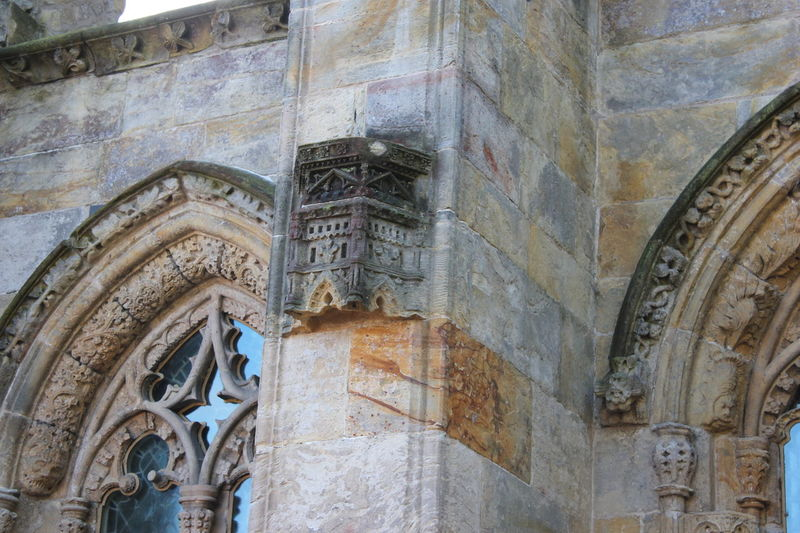 Architecture Building Exterior Built Structure Day Edinburgh History Low Angle View No People Outdoors Rosslyn Chapel Scotland Sculpture