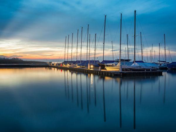 Balaton - Hungary Harbor View Balaton Balatonfenyves Bluesky Boat Boats Clouds And Sky Landscape Longexposure Sky Sunset
