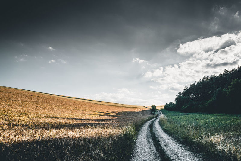 Auf dem Bierwanderweg Distelhausen Path Tauber Valley Beauty In Nature Bierwanderweg Cloud - Sky Direction Environment Field Land Landscape Nature No People Outdoors Rural Scene Scenics - Nature Sky Summer Tau Taubertal The Way Forward Tranquility