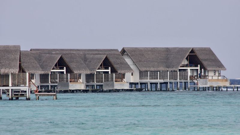 Amazing Architecture Built Structure Exceptional Photographs EyeEm Best Shots Holiday Horizon Over Water House Lifestyles Luxury Maldives Ocean Outdoors Scenics Sea Sky Thatched Roof Tranquil Scene Travel Turquoise Vacation Water WaterVilla Watervillage Miles Away