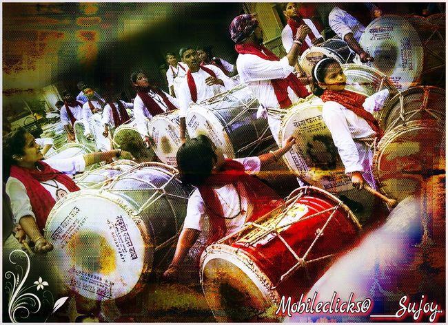 Ganesha Festival : Dhol Tasha Ganeshotsav Dhol Players