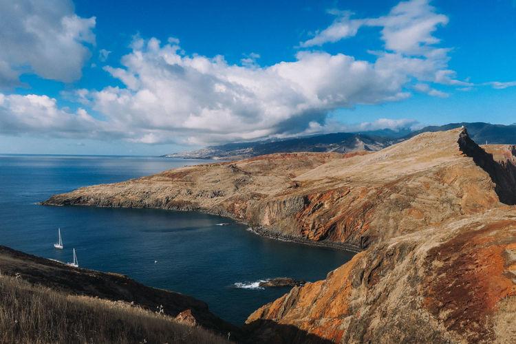 Scenics - Nature Tranquil Scene Tranquility Beauty In Nature Horizon Cloud - Sky Sea Outdoors Rocky Coastline Rock Mountain Madeira Madeira Island Portugal Travel Destinations Roadtrip Adventure Sunny Lifestyles Trekking