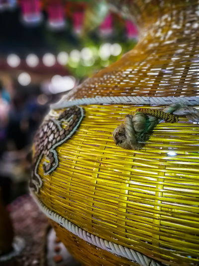 Seasoning Background Carnival Culture Colorful Traditional Vintage Branch Stick Decorative Arrangement Festival Oriental Interior Design Fishing Traps Bamboo Wood Abstract Pattern Thai Fishing Tools Night Outdoor Harvest Time