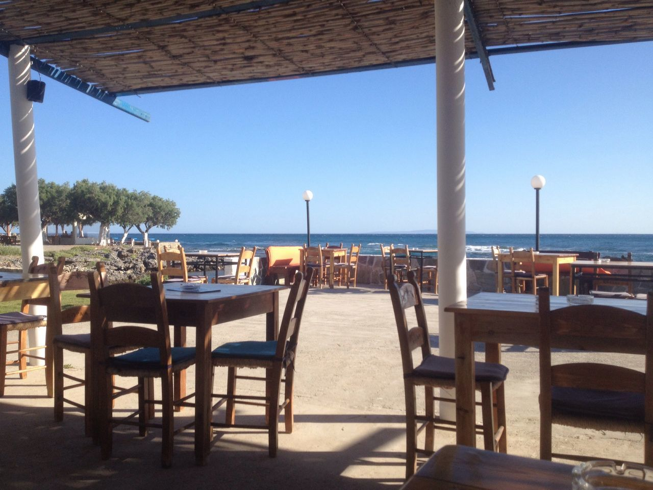 Sea Beach Restaurant Tranquility No People Horizon Over Water Outdoors