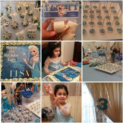 My princesses 3rd birthday party. Zara IrishElsa Queenelsa Bestparty 3 ♥