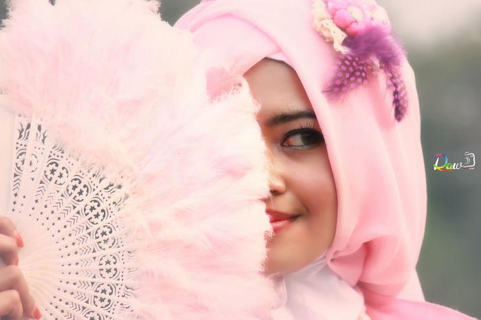 Hijab Pink Faces of EyeEm Bauty