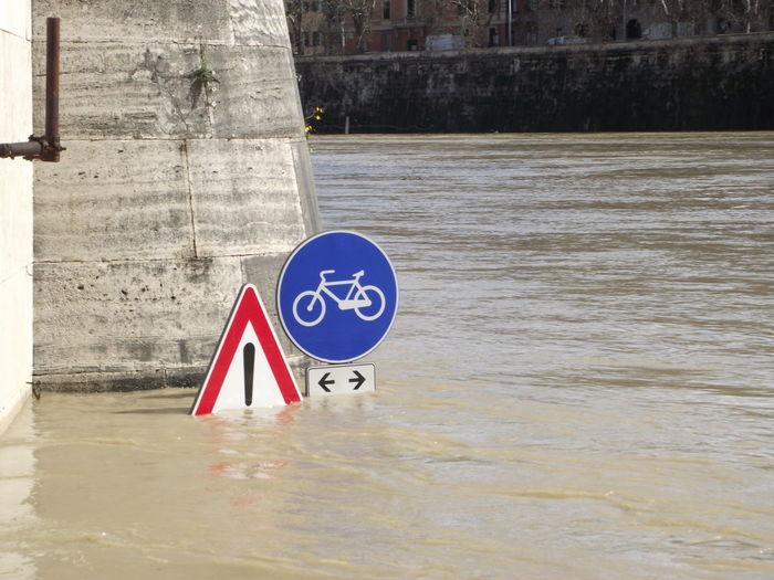 Bike Lane Bike Lane Sign BYOPaper! Humorous No People Water