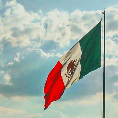 Clouds Bandera De Mexico Cloud - Sky Flag Sky No People Patriotism